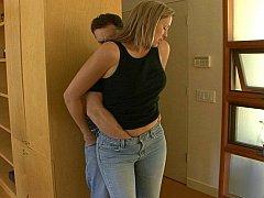 Blasen, Jeans