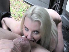 Blonde good anal fucked in taxi
