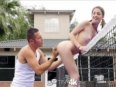 Tiny4K - School girl Kristen Scott fucks hunk Danny Mountain