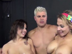 Nikki and Lilith share two massive dongs
