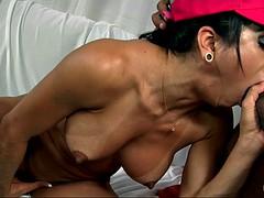 brazilian amateur rebecca rios deepthroats thick curved cock