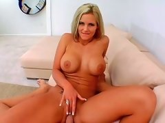 Phoenix Marie riding on huge wiener and performing fellatio