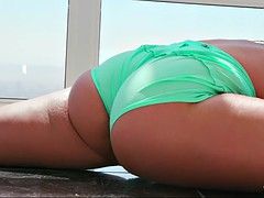 phoenix marie was startled by her stepson while working out