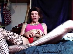 CD ( Crossdresser ) First Time in Solo With Toy