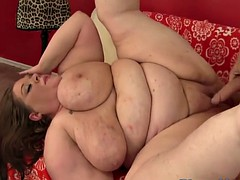 ssbbw drilled hard by her lovers fat cock