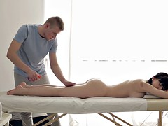 Busty Brunette Fucked During Massage