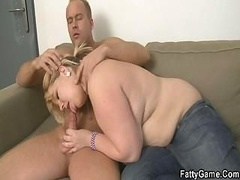 Blonde Real bbw takes it hard from behind