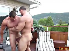 muscle bodybuilder anal sex and facial cum