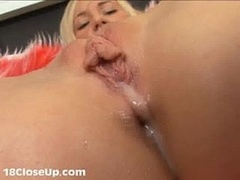 Watch Julia's Orgasm and Pussy Juices in Close-Up!