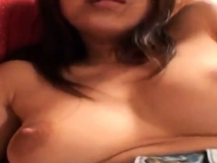 Hairy pussy Asian fingering love