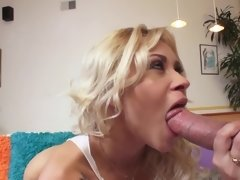 Blonde temptress and big-dicked fucker join forces