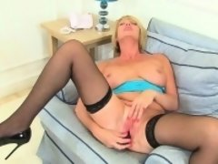 Britain's best assets stockings, high heels and big tits