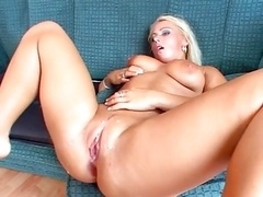 Sexy Blonde Getting Fucked by 3 Bbc