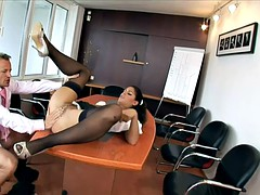 Hardcore Anal Action In The Office
