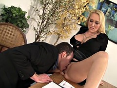 WANKZ- MILF Boss Alana Evans Bent Over The Desk For A Savage