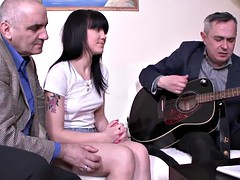 teen fucked by two old music teachers