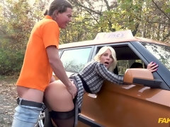 Hot blonde MILF wants her licence
