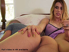 Morning drilling by cool ash-blonde ladyboy