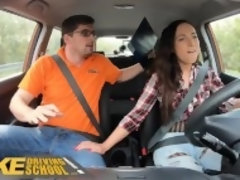 """Fake Driving School Hot learner Kristy Black fucked doggy style"""