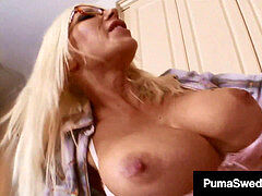 Nordic nympho Puma Swede Cleans The Plumber's Pipes!
