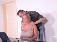 One Night in Prague - A Busty New Face's Threesome Debut