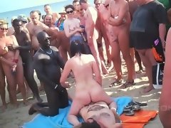Group Fucking Love Making On The Beach - Gangbang