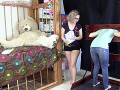 Stephanie_Wets_Pants_In_Pillory,_Diaper_Punished