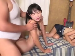 Two japanese girls get fucked by older guy