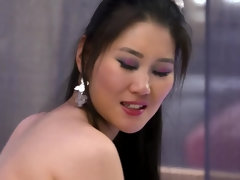 Asian beauty gets her pussy plundered and cummed into hard and fast