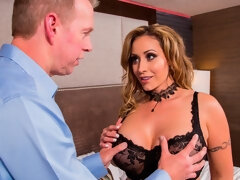 Impressive busty model Eva Notty gets fucked by a large penis