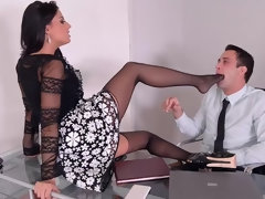 Tight Thighs Straddled - Licking The Boss' Wife's Feet