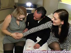 German pregnant mom housewife mff threesome with couple