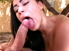 Summer Bailey sucking on a fat cock
